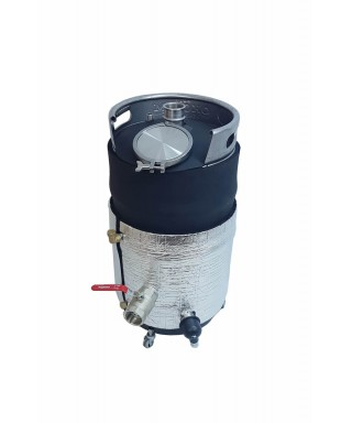 Oil jacketed 50l keg type kettle